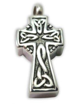 Colgante para cenizas cruz celta 23×14 mm plata