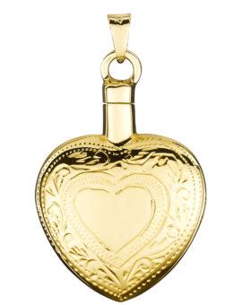 "Colgante cenizas ""Corazón tallado"" oro BO-1106"