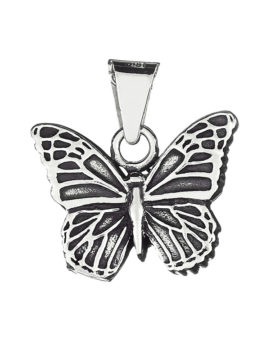 """Colgante cenizas """"mariposa oxidada"""" plata  P-1515"""