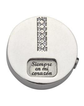 "Colgante plata ""Siempre en mi corazón""  diámetro 20mm P-1490"