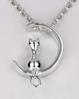 joya-para-cenizas-plata-gato-luna-cadena